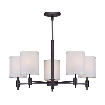 Moriarty 5-Light Shaded Candle-Style Chandelier Finish: Antique Bronze