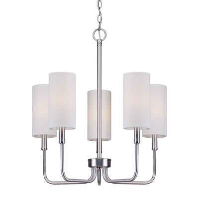Burger 5-Light Shaded Chandelier Finish: Brushed Nickel