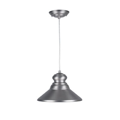 Ballarat Cord-Hung 1-Light Mini Pendant Finish: Brushed Nickel