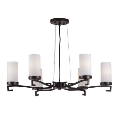 Abbigail 6-Light Shaded Chandelier