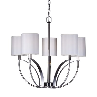 Absher 5-Light Shaded Chandelier