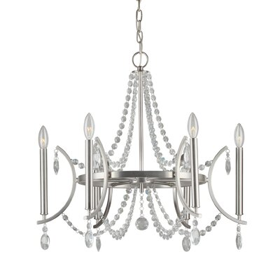 Yashvi 6-Light Crystal Chandelier