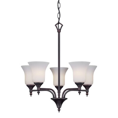 Crothersville 5-Light Shaded Chandelier Finish: Antique Bronze