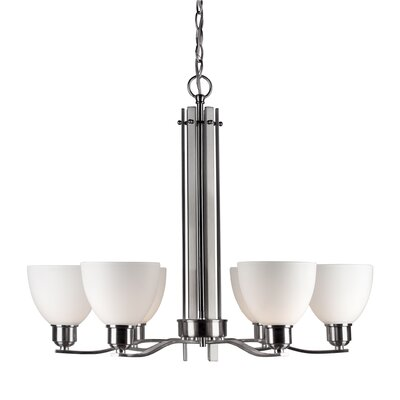 Bulloch 6-Light Shaded Chandelier Finish: Brushed Nickel