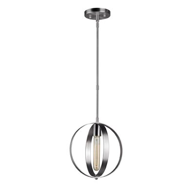 Keyser 1-Light Mini Pendant Finish: Brushed Nickel