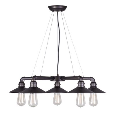 5-Light Shaded Chandelier Finish: Antique Bronze