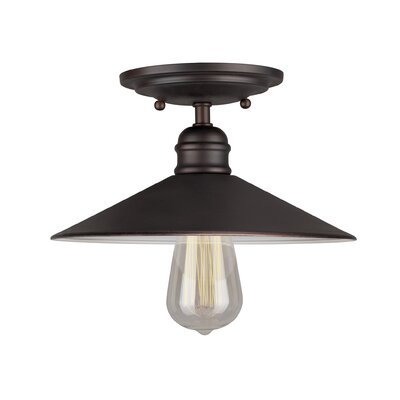 Crewe 1-Light Semi Flush Mount Color: Antique Bronze