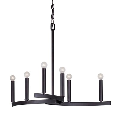 6-Light Candle-Style Chandelier Finish: Antique Bronze
