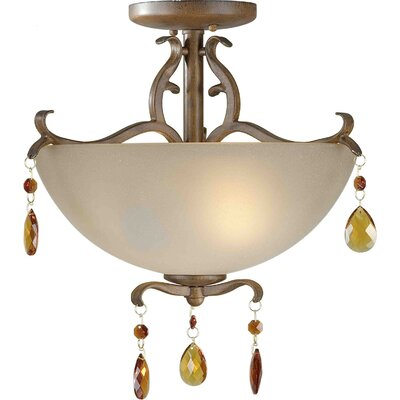 Bourail Convertible Bowl Inverted Pendant Size: 16 H x 17.75 W