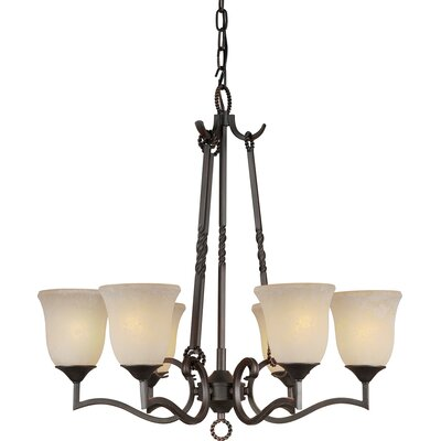 Bourke 6-Light Shaded Chandelier