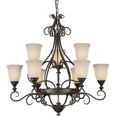 Bowe 9-Light Shaded Chandelier