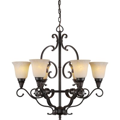 Bowersville 6-Light Shaded Chandelier
