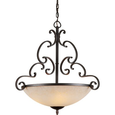 Lyndale 4-Light Bowl Inverted Pendant