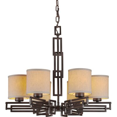 Wagnon 6-Light Shaded Chandelier