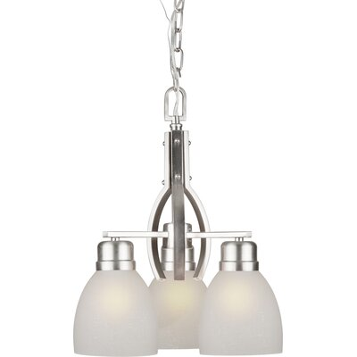 Wakeland 3-Light Shaded Chandelier