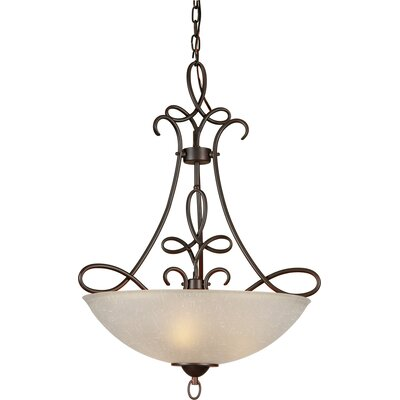 4-Light Bowl Inverted Pendant