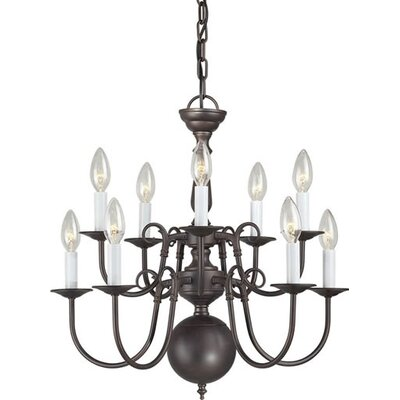 10 Light Chandelier Finish: Antique Bronze
