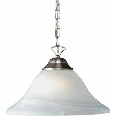 1-Light Pendant Finish / Shade: Brushed Nickel / Marble