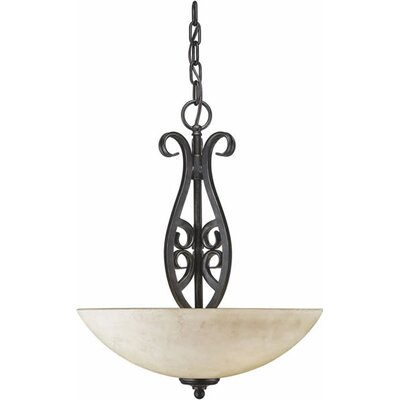 Luther 3-Light Bowl Inverted Pendant Size: Small