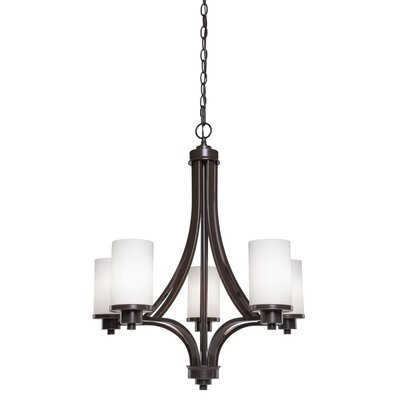 Amal 5-Light Shaded Chandelier Finish: Oil Bronze