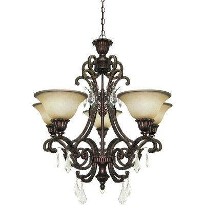 Ironwood 5-Light Shaded Chandelier
