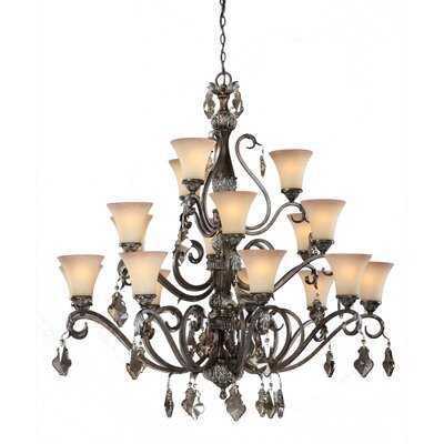 Blackwater 18-Light Shaded Chandelier