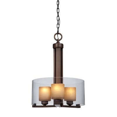 Sierra 3-Light Drum Chandelier Shade Color: Clear