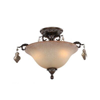 Vienna 3-Light Semi Flush Mount