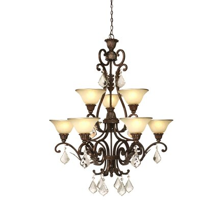Ironwood 9-Light Shaded Chandelier