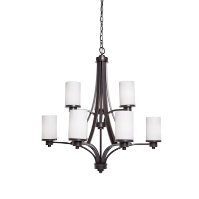 Parkdale 9-Light Shaded Chandelier Finish: Polished Nickel