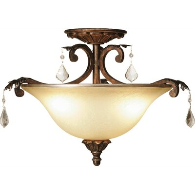 Ironwood 3-Light Semi Flush Mount