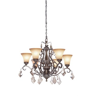 Blackwater 6-Light Shaded Chandelier