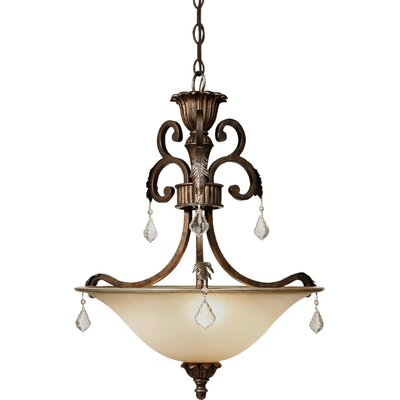 Ironwood 3-Light Inverted Pendant