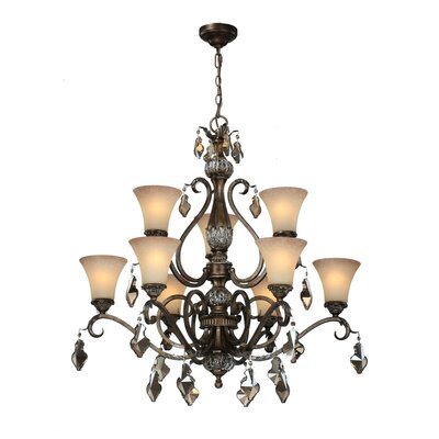 Blackwater 9-Light Shaded Chandelier