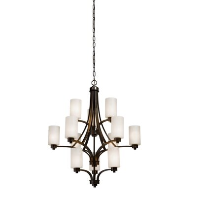 Parkdale 12-Light Shaded Chandelier Finish: Oil Bronze