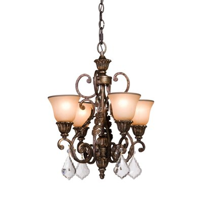 Ironwood 4-Light Shaded Chandelier