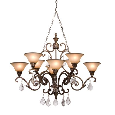 Ironwood 8-Light Shaded Chandelier