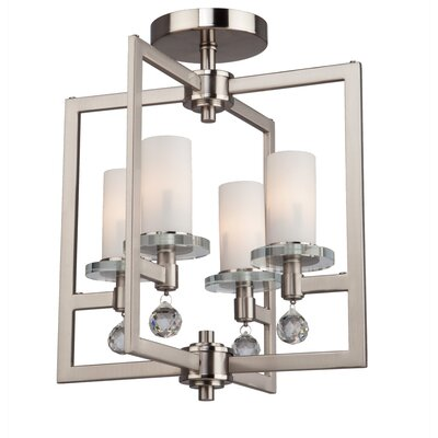 Leejean 4-Light Semi Flush Mount