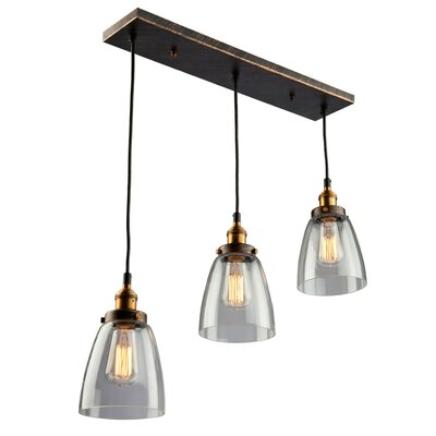 Farheen 3-Light Glass Pendant