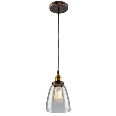 Farheen 1-Light Glass Mini Pendant