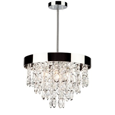 Delesha 4-Light Crystal Chandelier