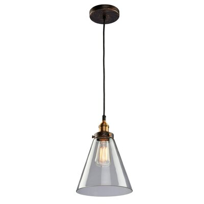 Farheen 1-Light Glass Shade Mini Pendant