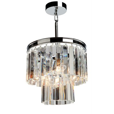 Bindera 3-Light Mini Pendant Finish: Chrome