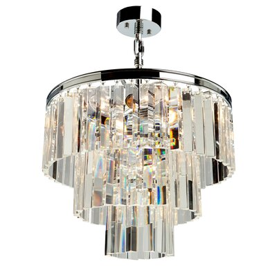 Bindera Drum Shade 9-Light Pendant Finish: Chrome