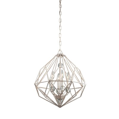 Whisman 4-Light Foyer Pendant Finish: Textured Silver