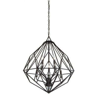 Monterey 8-Light Candle-Style Chandelier Finish: Textured Silver