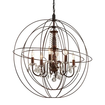 Ethelinde 6-Light Globe Pendant