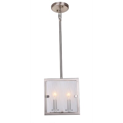 Harbor Point 2-Light Pendant Finish: Satin Nickel