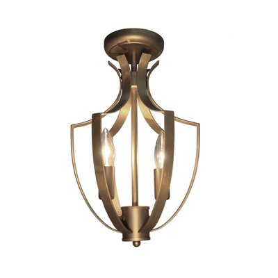 Newport 3-Light Semi-Flush Mount Finish: Satin Brass