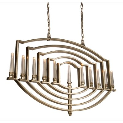 Aidan 11 Ligh Candle-Style Chandelier Finish: Silver Leaf